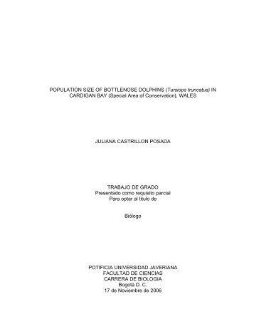 POPULATION SIZE OF BOTTLENOSE DOLPHINS (Tursiops ...