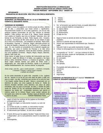 10° EXAMEN ACUMULATIVO TERCER ... - Cuaderno digital