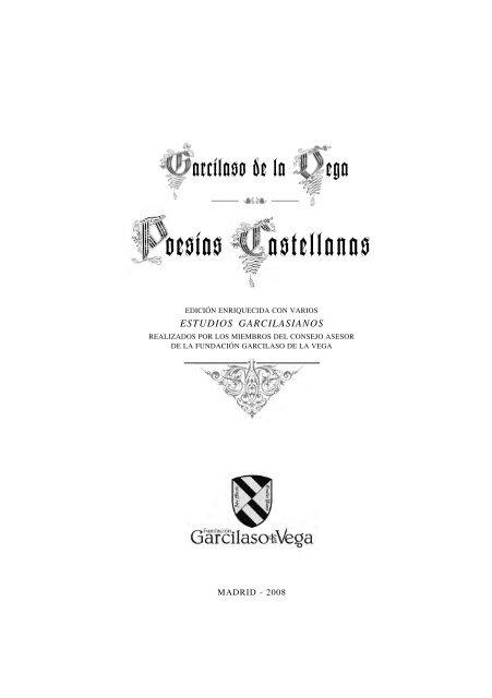 Presen Garci Fundación Qxp Fundación Garcilaso De La Vega