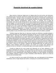 Posicion Doctrinal de Nuestra Iglesia.pdf - Iglesia Presbiteriana ...