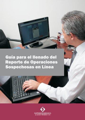 Guía para el llenado del Reporte de Operaciones ... - Sbs.gob.pe