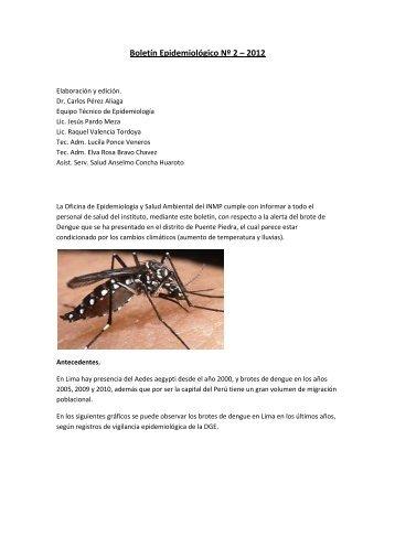 Boletín Epidemiológico Nº 2 – 2012 - INMP