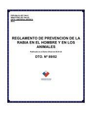 reglamento de prevencion de la rabia en el hombre y en los animales