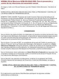 Nom 039 SSA2 2002 - Comisión Nacional de los Derechos Humanos