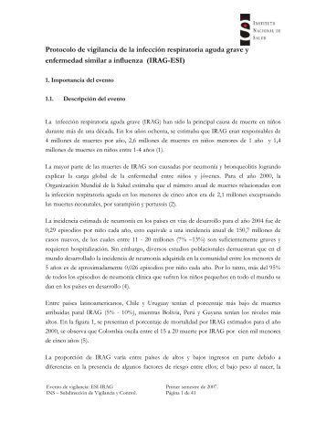 Protocolo de vigilancia de la infección respiratoria aguda grave y ...