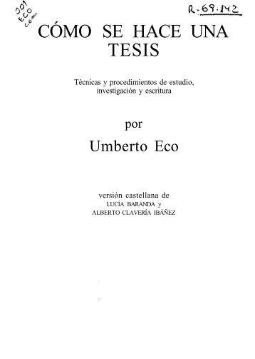 Eco, Umberto - Como Se Hace Una Tesis.pdf