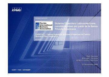 Sistema Financiero Latinoamericano, consideraciones por parte de ...