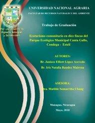 UNIVERSIDAD NACIONAL AGRARIA Trabajo de Graduación