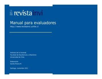 Manual para evaluadores - Revista INVI - Universidad de Chile