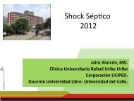 Shock séptico - Universidad Libre