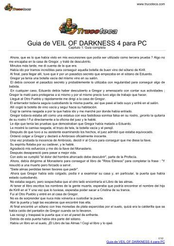 Guia de VEIL OF DARKNESS 4 para PC - Trucoteca.com