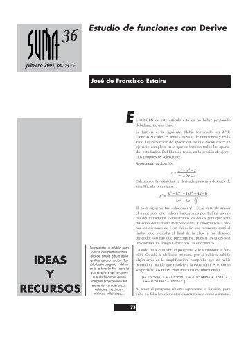 IDEAS Y RECURSOS - SUMA Revistas de matemáticas