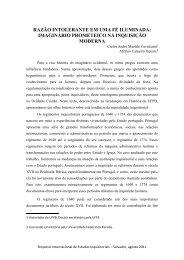 RAZÃO INTOLERANTE EM UMA FÉ ILUMINADA ... - UFRB