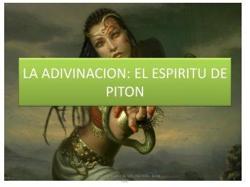 espíritu de adivinación - Iglesia Elim OKC