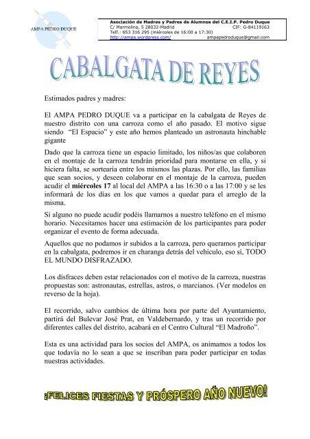 modelos en la página 2 - AMPA Colegio Pedro Duque