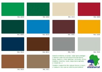Catalogue of products - Pinturas Ecuatorial