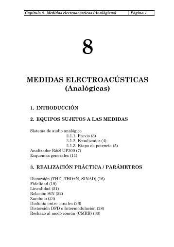 MEDIDAS ELECTROACÚSTICAS (Analógicas) - La Salle