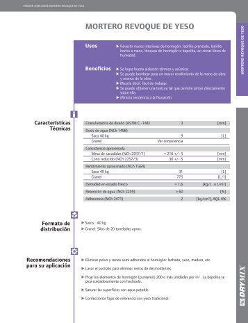 mortero revoque de yeso - RegistroCDT