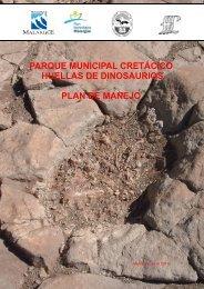 parque municipal cretácico huellas de dinosaurios plan de manejo