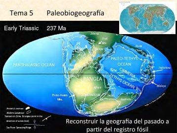 Tema 5 Paleobiogeogra