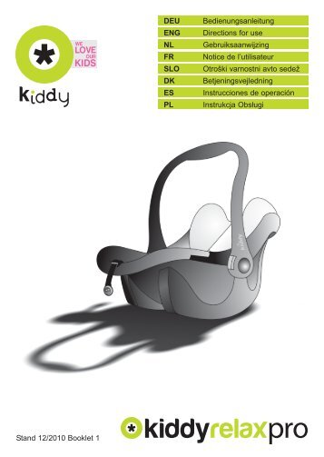 SillaCocheBebe.com | Manual de instrucciones | Kiddy Relax Pro