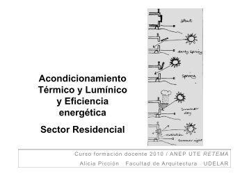 Acondicionamiento Térmico y Lumínico y eficiencia ... - UTE