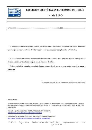 4º de E.S.O. - IES Izpisúa Belmonte