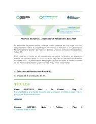 TÍTULOS - Secretaría de Ambiente y Desarrollo Sustentable