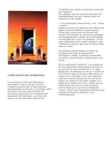 """CURSO BASICO DE ASTROLOGÍA La cuestión de """"¿Por qué ..."""