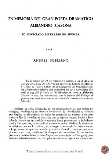 En memoria del gran poeta dramático Alejandro Casona