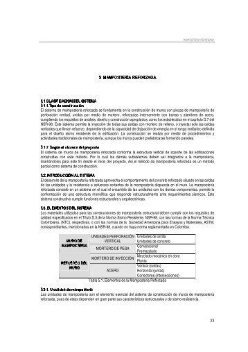 Mampostería reforzada - Universidad de los Andes