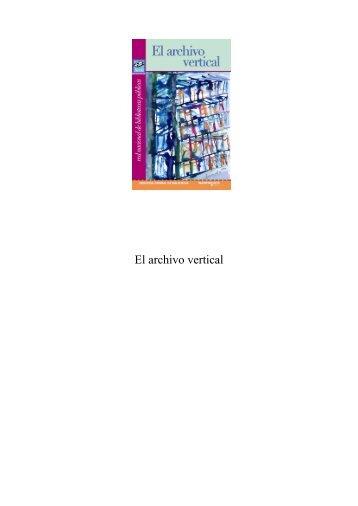 El archivo vertical - Dirección General de Bibliotecas - Consejo ...