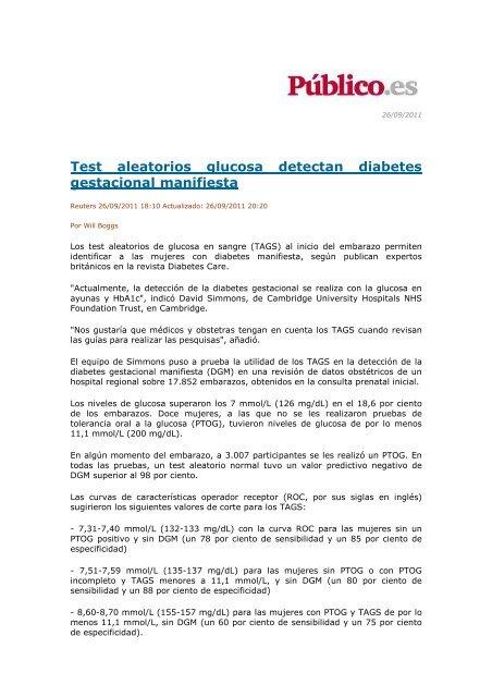 prueba de tolerancia a la glucosa diabetes gestacional nhs