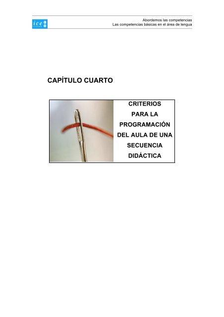 Capítulo cuarto. Criterios para la programación del aula de ...