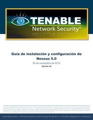 Guía de instalación y configuración - Tenable Network Security