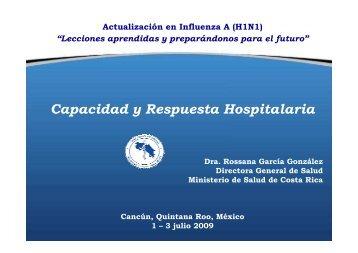 Dr. Rosana García, Director General, Ministry of Health, Costa Rica