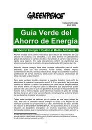 Guía Verde del Ahorro de Energía - Greenpeace