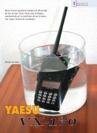 Yaesu VX-170 - Radio-Noticias, revista digital de radioafición