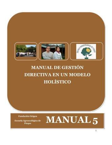 Manual de Gestión Directiva. - Fundación Origen Chile