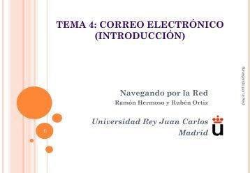 CORREO ELECTRÓNICO - Universidad Rey Juan Carlos