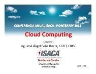 Cloud Computing - ISACA - Monterrey Chapter