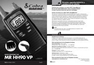 90VP Spanish - Cobra Electronics