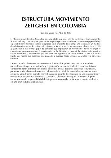 estructura zeitcol - Movimiento Zeitgeist en Colombia - PBworks
