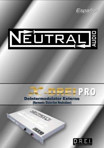 Manual de instrucciones X-DREI PRO - Neutral Audio
