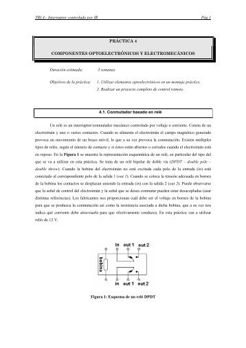 Práctica 4: Componentes optoelectrónicos y electromecánicos
