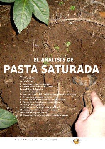 PASTA SATURADA - agroanalisis.com.mx