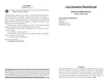 Leccionario Dominical - Blakley Creative