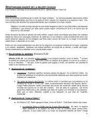 RESPONSABILIDADES DE LA MUJER CASADA