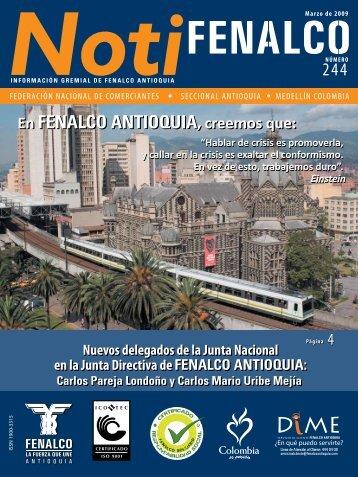federación nacional de comerciantes seccional ... - Fenalco Antioquia