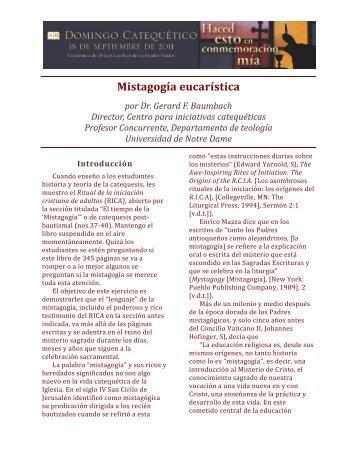 Mistagogía eucarística - United States Conference of Catholic Bishops